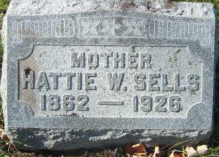 WHITSEL SELLS, HATTIE - Franklin County, Ohio | HATTIE WHITSEL SELLS - Ohio Gravestone Photos