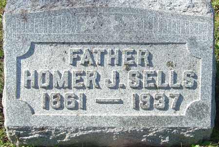 SELLS, HOMER J - Franklin County, Ohio | HOMER J SELLS - Ohio Gravestone Photos