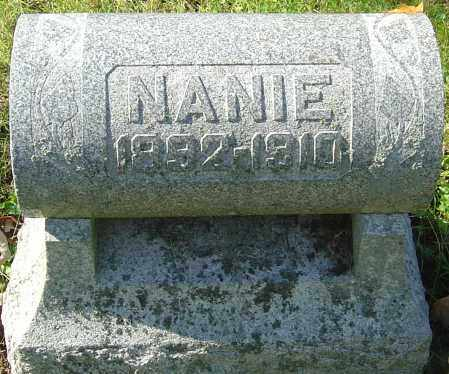 SELLS, NANIE - Franklin County, Ohio | NANIE SELLS - Ohio Gravestone Photos