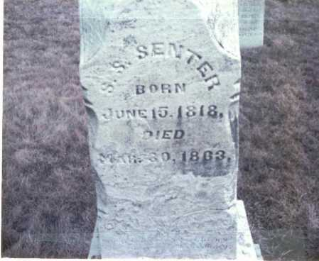 SENTER, S. S. - Franklin County, Ohio | S. S. SENTER - Ohio Gravestone Photos