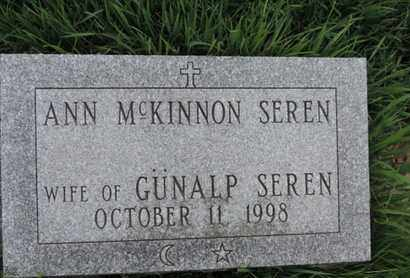 MCKINNON SEREN, ANN - Franklin County, Ohio | ANN MCKINNON SEREN - Ohio Gravestone Photos