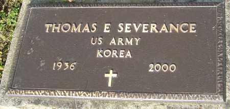 SEVERANCE, THOMAS E - Franklin County, Ohio | THOMAS E SEVERANCE - Ohio Gravestone Photos