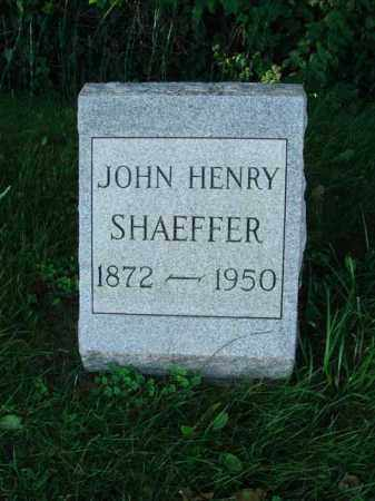 SHAEFFER, JOHN HENRY - Franklin County, Ohio | JOHN HENRY SHAEFFER - Ohio Gravestone Photos