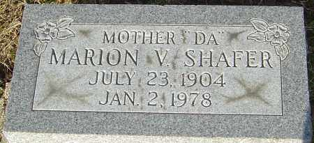 SHAFER, MARION V - Franklin County, Ohio | MARION V SHAFER - Ohio Gravestone Photos
