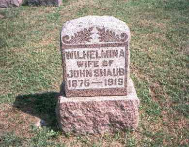SHAUB, WILHELMINA - Franklin County, Ohio | WILHELMINA SHAUB - Ohio Gravestone Photos