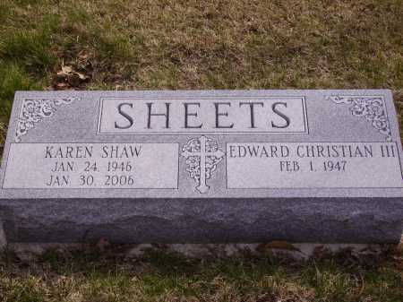 SHAW SHEETS, KAREN - Franklin County, Ohio | KAREN SHAW SHEETS - Ohio Gravestone Photos