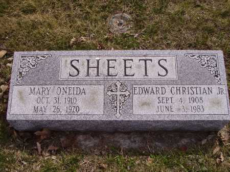 SHEETS, MARY ONEIDA - Franklin County, Ohio | MARY ONEIDA SHEETS - Ohio Gravestone Photos