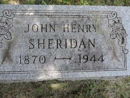 SHERIDAN, JOHN HENRY - Franklin County, Ohio | JOHN HENRY SHERIDAN - Ohio Gravestone Photos