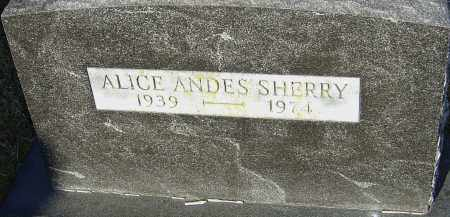 ANDES SHERRY, ALICE - Franklin County, Ohio | ALICE ANDES SHERRY - Ohio Gravestone Photos
