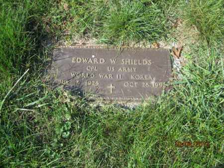 SHIELDS, EDWARD W - Franklin County, Ohio | EDWARD W SHIELDS - Ohio Gravestone Photos