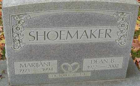 SHOEMAKER, MARIJANE - Franklin County, Ohio | MARIJANE SHOEMAKER - Ohio Gravestone Photos
