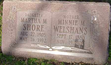 WELSHANS, MINNIE M - Franklin County, Ohio | MINNIE M WELSHANS - Ohio Gravestone Photos