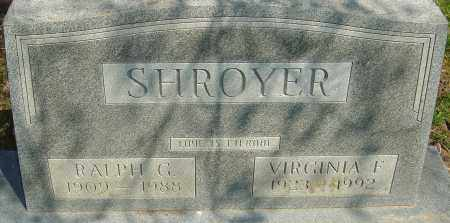 SHROYER, RALPH GILMORE - Franklin County, Ohio | RALPH GILMORE SHROYER - Ohio Gravestone Photos