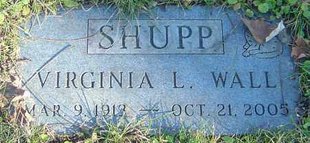 WALL SHUPP, VIRGINIA L - Franklin County, Ohio | VIRGINIA L WALL SHUPP - Ohio Gravestone Photos