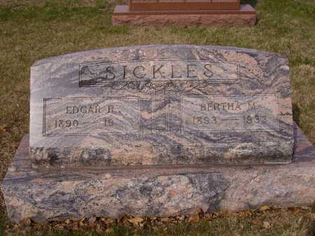 SICKLES, EDGAR R. - Franklin County, Ohio | EDGAR R. SICKLES - Ohio Gravestone Photos