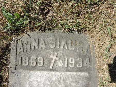 SIKURA, ANNA - Franklin County, Ohio | ANNA SIKURA - Ohio Gravestone Photos