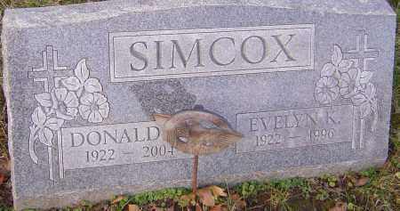 SIMCOX, DONALD - Franklin County, Ohio | DONALD SIMCOX - Ohio Gravestone Photos