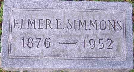 SIMMONS, ELMER - Franklin County, Ohio | ELMER SIMMONS - Ohio Gravestone Photos