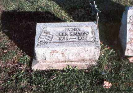 SIMMONS, JOHN - Franklin County, Ohio | JOHN SIMMONS - Ohio Gravestone Photos