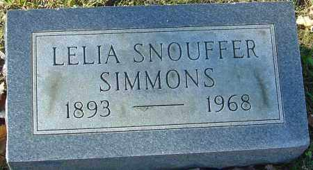 SNOUFFER SIMMONS, LELIA - Franklin County, Ohio | LELIA SNOUFFER SIMMONS - Ohio Gravestone Photos