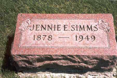 SIMMS, JENNIE E. - Franklin County, Ohio | JENNIE E. SIMMS - Ohio Gravestone Photos