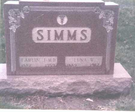 SIMMS, LENA W. - Franklin County, Ohio | LENA W. SIMMS - Ohio Gravestone Photos