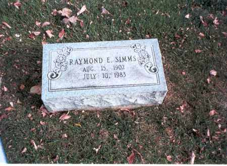SIMMS, RAYMOND E. - Franklin County, Ohio | RAYMOND E. SIMMS - Ohio Gravestone Photos