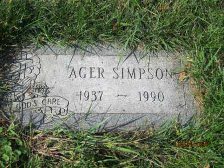 SIMPSON, AGER - Franklin County, Ohio | AGER SIMPSON - Ohio Gravestone Photos