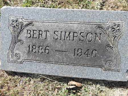 SIMPSON, BERT - Franklin County, Ohio | BERT SIMPSON - Ohio Gravestone Photos