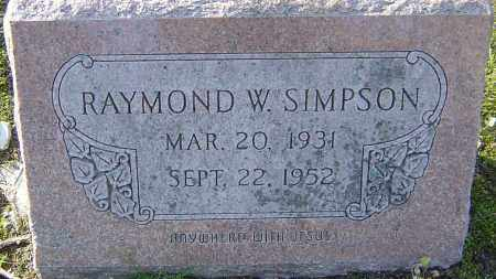 SIMPSON, RAYMOND W - Franklin County, Ohio | RAYMOND W SIMPSON - Ohio Gravestone Photos