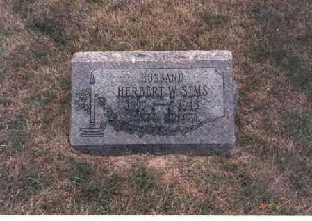 SIMS, HERBERT W. - Franklin County, Ohio | HERBERT W. SIMS - Ohio Gravestone Photos