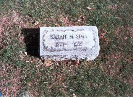 SIMS, SARAH M. - Franklin County, Ohio | SARAH M. SIMS - Ohio Gravestone Photos