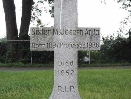 SISTER, M. JOSEPH ANITA - Franklin County, Ohio | M. JOSEPH ANITA SISTER - Ohio Gravestone Photos