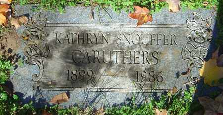 SNOUFFER CARUTHERS, KATHRYN - Franklin County, Ohio | KATHRYN SNOUFFER CARUTHERS - Ohio Gravestone Photos