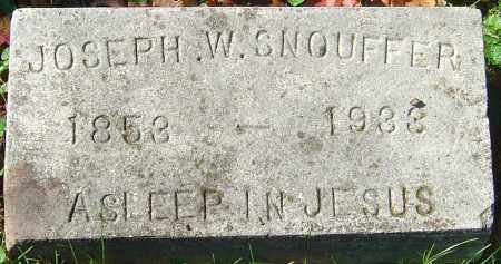 SNOUFFER, JOSEPH WINFIELD - Franklin County, Ohio | JOSEPH WINFIELD SNOUFFER - Ohio Gravestone Photos