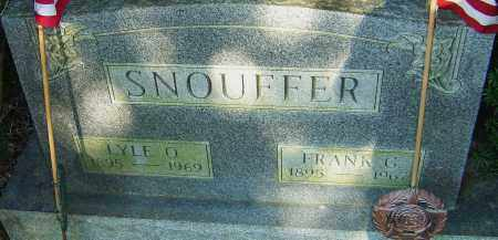 MORGAN SNOUFFER, FRANK - Franklin County, Ohio | FRANK MORGAN SNOUFFER - Ohio Gravestone Photos