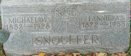 SNOUFFER, MICHAEL W - Franklin County, Ohio | MICHAEL W SNOUFFER - Ohio Gravestone Photos
