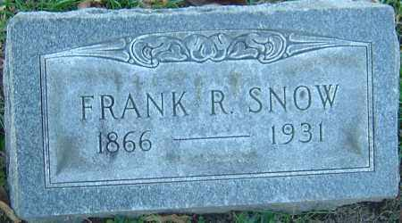SNOW, FRANK R - Franklin County, Ohio | FRANK R SNOW - Ohio Gravestone Photos