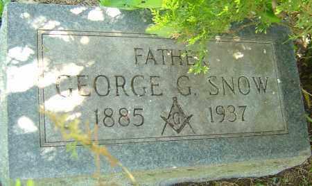 SNOW, GEORGE G - Franklin County, Ohio | GEORGE G SNOW - Ohio Gravestone Photos