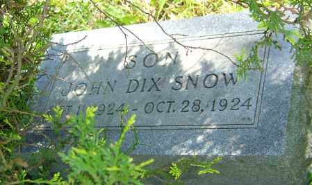 SNOW, JOHN DIX - Franklin County, Ohio | JOHN DIX SNOW - Ohio Gravestone Photos
