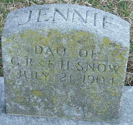 SNOW, JENNIE - Franklin County, Ohio | JENNIE SNOW - Ohio Gravestone Photos