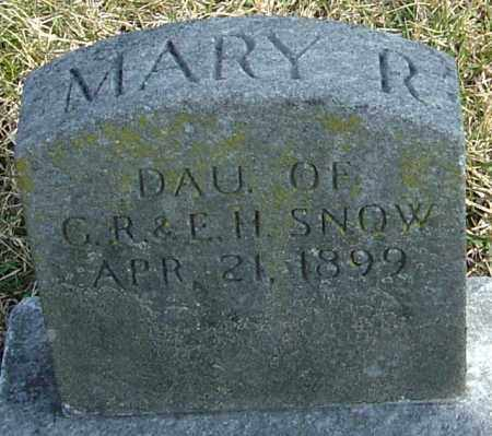 SNOW, MARY R - Franklin County, Ohio | MARY R SNOW - Ohio Gravestone Photos