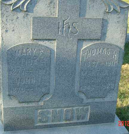 LIDA SNOW, MARY ELIZABETH - Franklin County, Ohio | MARY ELIZABETH LIDA SNOW - Ohio Gravestone Photos