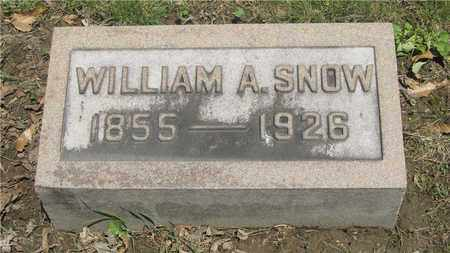SNOW, WILLIAM A. - Franklin County, Ohio | WILLIAM A. SNOW - Ohio Gravestone Photos