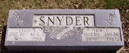 SNYDER, IDA I. - Franklin County, Ohio | IDA I. SNYDER - Ohio Gravestone Photos