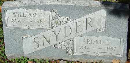 SNYDER, WILLIAM J - Franklin County, Ohio | WILLIAM J SNYDER - Ohio Gravestone Photos