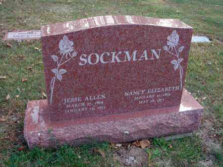 SOCKMAN, NANCY ELIZABETH - Franklin County, Ohio | NANCY ELIZABETH SOCKMAN - Ohio Gravestone Photos