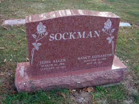 SOCKMAN, JESSE ALLEN - Franklin County, Ohio | JESSE ALLEN SOCKMAN - Ohio Gravestone Photos