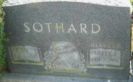 SOTHARD, BETTY - Franklin County, Ohio | BETTY SOTHARD - Ohio Gravestone Photos