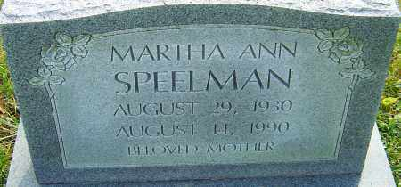SPEELMAN, MARTHA - Franklin County, Ohio | MARTHA SPEELMAN - Ohio Gravestone Photos